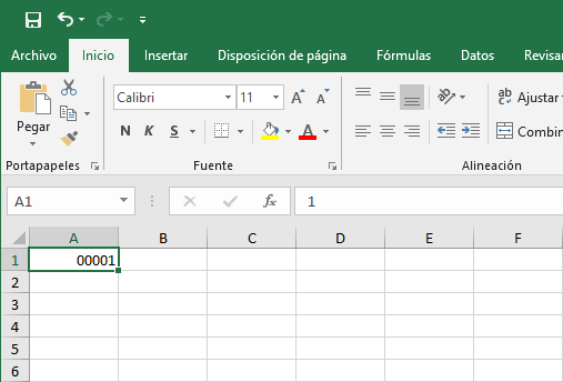 Ejemplo de formato personalizado en Excel
