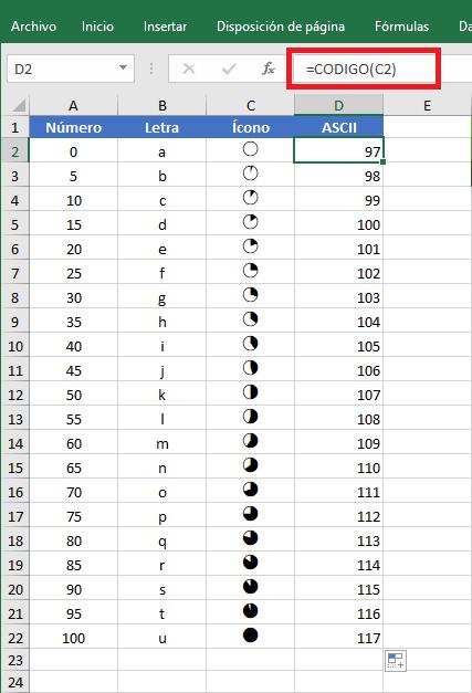 Cómo crear un gráfico circular dentro de una celda de Excel
