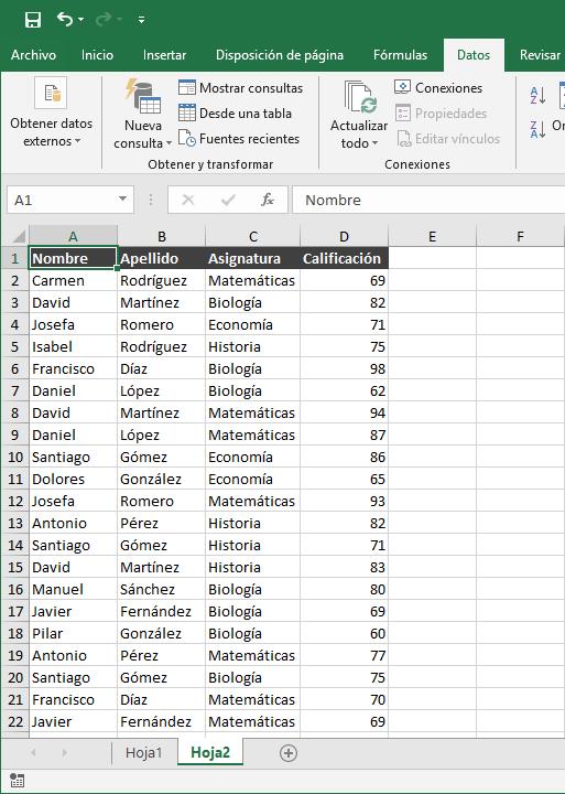 Quitar valores duplicados en Excel