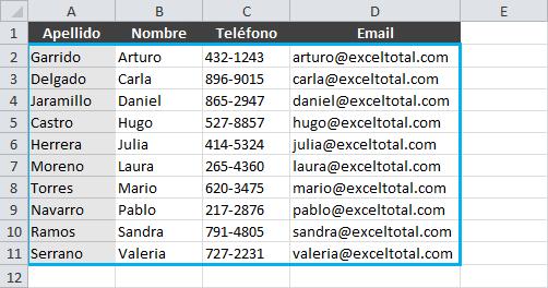 Cambio en el orden de columnas para el uso de la función BUSCARV
