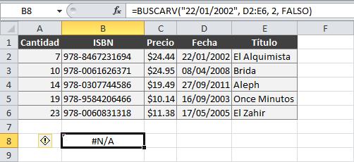 Cómo buscar fechas en Excel