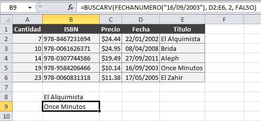 BUSCARV y fechas en Excel