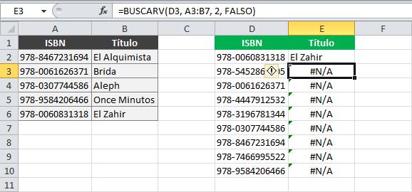 Error al copiar una fórmula de búsqueda