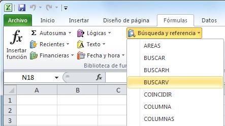 Regresa la función BUSCARV en Excel 2010 SP1