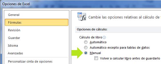 Opción fórmula de cálculo premium