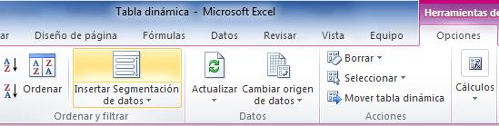 Excel 2010 Slicers