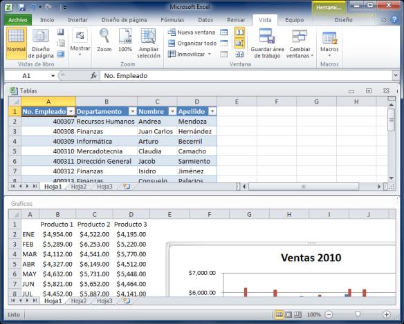 Visualizando archivos en paralelo