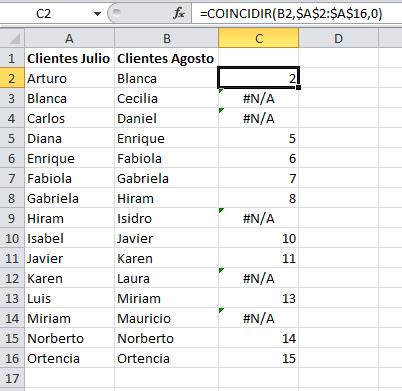 Comparando listas de clientes