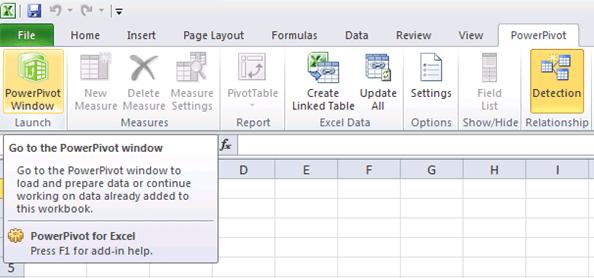 PowerPivot para Excel 2010