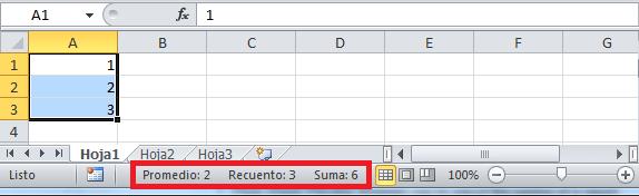 Barras de Menu de Excel Barra de Estado de Excel