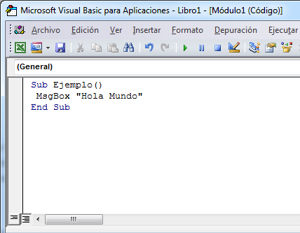 Programación VBA en Excel