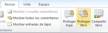 Proteger un libro de Excel
