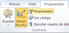 Propiedades de un control ActiveX en Excel