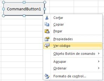 Ver código de un control ActiveX en Excel