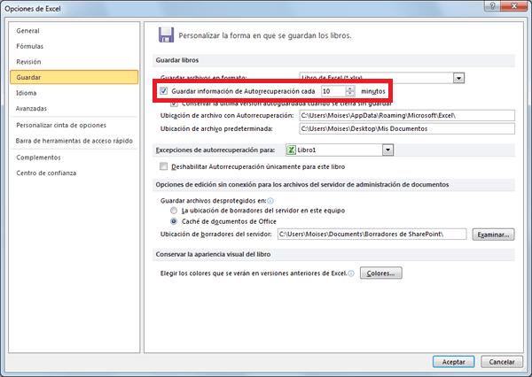 Recuperar un archivo de Excel