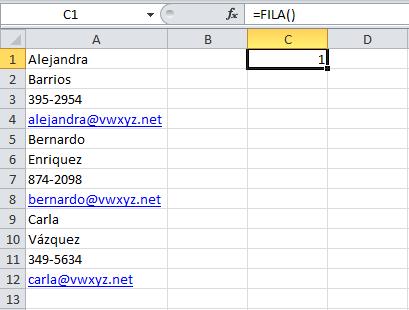 Convertir una lista en una tabla en Excel