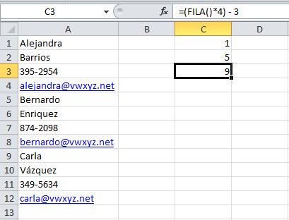 Convertir una columna en una tabla en Excel