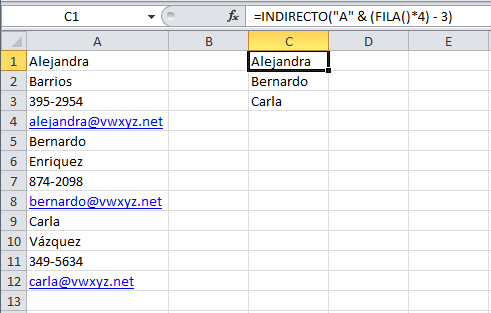 Cómo convertir una columna de datos en una tabla