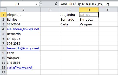 Extraer información de una columna hacia una tabla