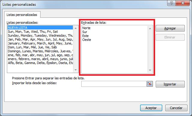 Crear una lista personalizada capturando cada elemento