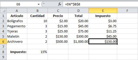 Cuándo utilizar referencias absolutas - Excel Total