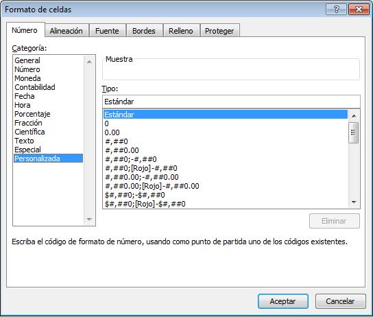 Formatos personalizados de números en Excel