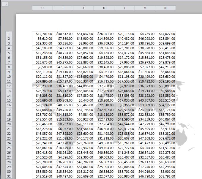 Marcas de agua en hojas de Excel