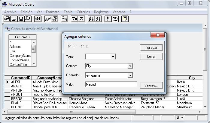 Controlador odbc microsoft access