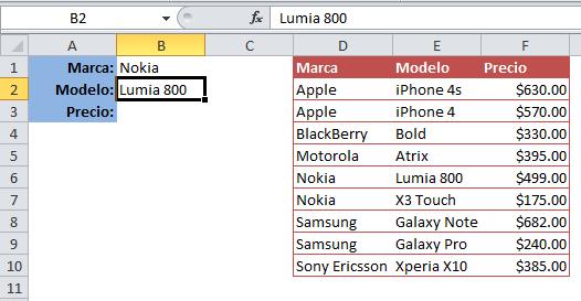 Buscar con dos o más condiciones en Excel