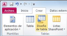 Crear una tabla de Access en la vista Diseño