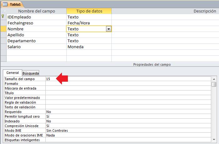 Cómo hacer una tabla de Access