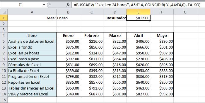 Buscar y coincidir en Excel