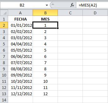 Calcular el trimestre de una fecha en Excel