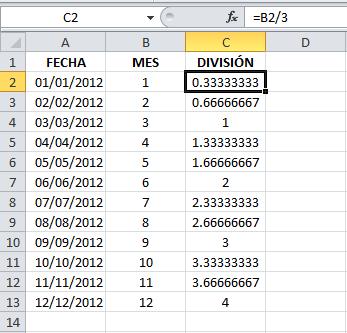 Calcular el trimestre en Excel