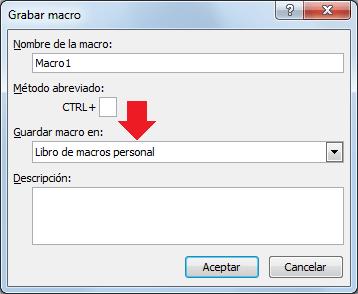 El libro de macros personal en Excel 2010