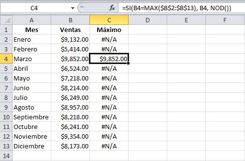 Formato condicional gráficos columna Excel