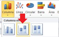 Formato condicional en barras de datos de un gráfico Excel