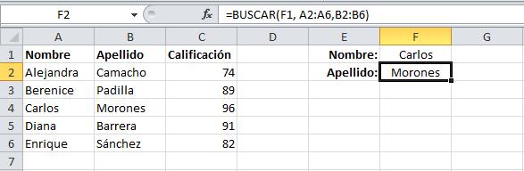 Cambiar el vector de resultados de la función BUSCAR