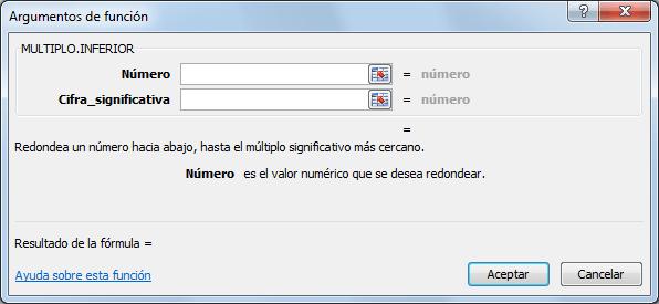 Sintaxis de la función MULTIPLO.INFERIOR en Excel