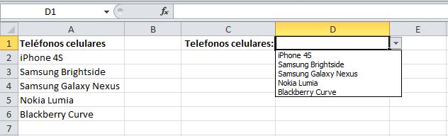Actualizar una lista en Excel automáticamente