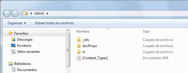 Formatos de archivo de Excel 2010