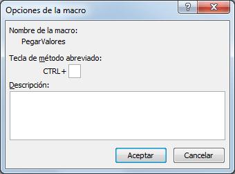 Teclas para pegar valores en Excel