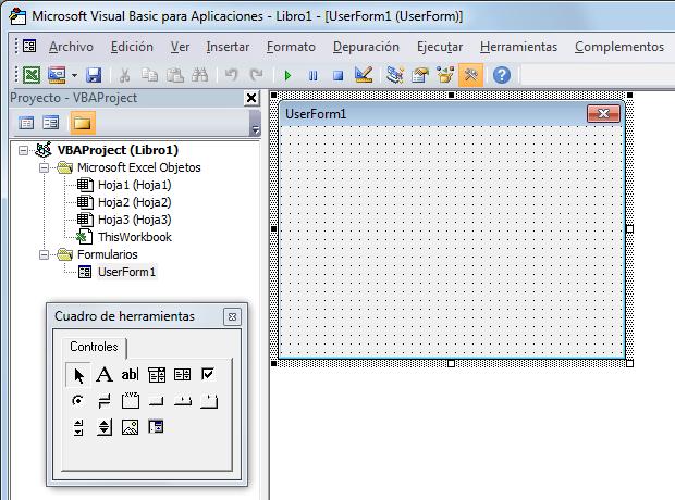 Formulario en Excel 2010
