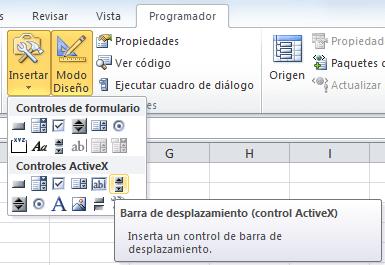 Control ActiveX Barra de desplazamiento