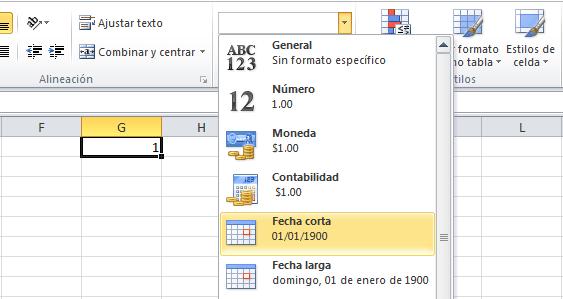 Cálculos de fecha en Excel 2010
