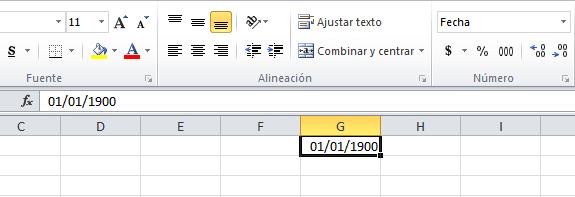 Fecha como número entero en Excel