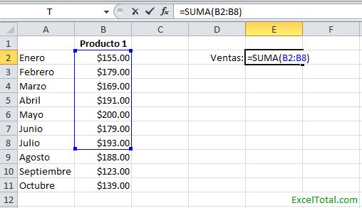 C mo editar una f rmula en excel con el rat n excel total for Como hacer una nomina en excel con formulas