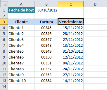 fechas de vencimiento en excel con formato condicional excel total