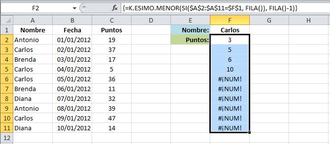 Realizar búsqueda con varios resultados en Excel