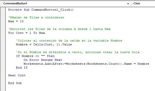 C 243 Mo Crear Hojas De Excel Con Vba Excel Total